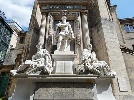 Paris, Coligny, Statue, Protestant