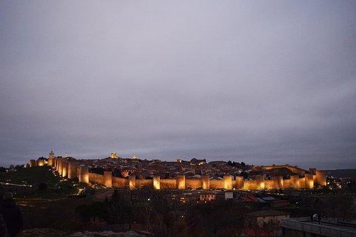 Avila, Spain, Wall, Architecture, Stone