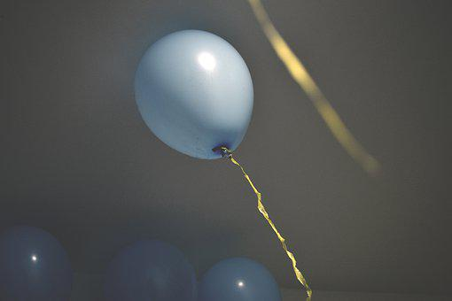 Balloon, Party, Birthday, Streamers
