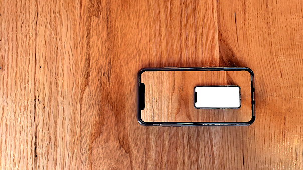 Phone, Table, Nested, Picture In Picture, Wood, Mobile