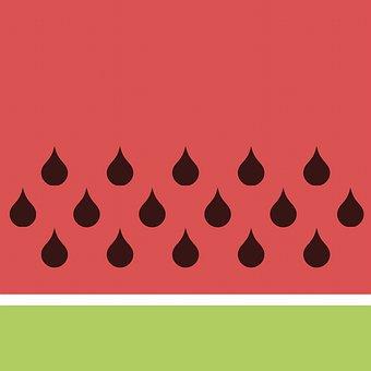 Watermelon Digital Paper, Watermelon Pattern