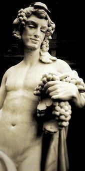 Statue, Wine, Roman, Plaster Statue, Act