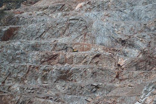 Quarry, Stones, Material, Granite, Background, Rock