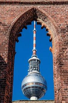 Tv Tower, Berlin, Telespargel, Asparagus