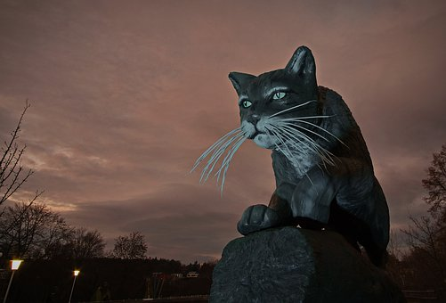 Cat, Wildcat, Ega, Egapark, Erfurt, Statue, Big Cat