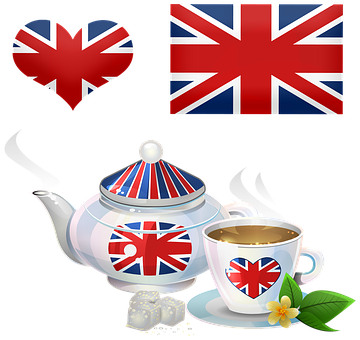 British Tea, Teapot, Tea Cup, British Flag, Union Jack