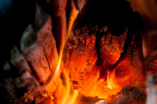 Campfire, Carbon, Fire, Fireplace, Background, Flame