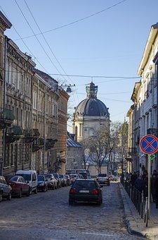 Lviv, Street, Ukraine, City, Architecture, Tourism
