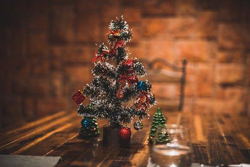 Christmas, Decoration, Tree, Dining, Table, Decor