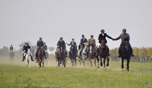 Hunting Horseback Riding, Reintal, Ride, Drag Hunting