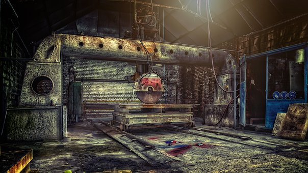 Machine, Saw, Circular Saw, Factory, Lost Places