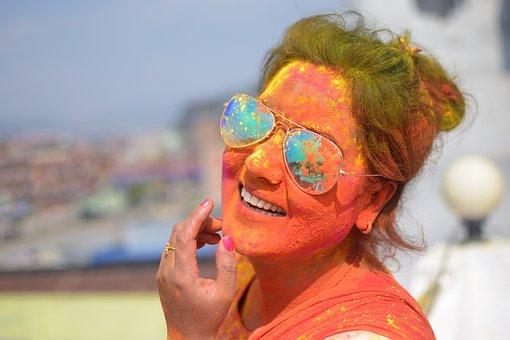 Holi, Celebration, Nepal, Woman, Festival, Traditional