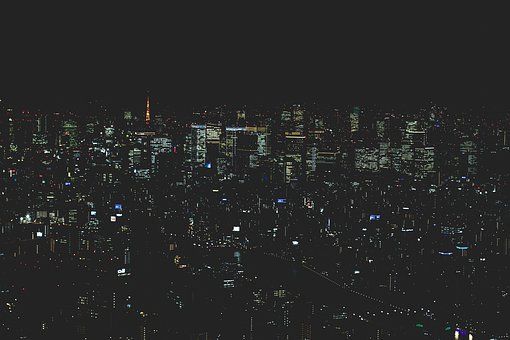 Japan, Tokyo, Skyscraper, Sky, Architecture, Modern