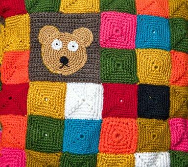 Hand Labor, Crochet, Wool, Knit, Lease Work, Bear