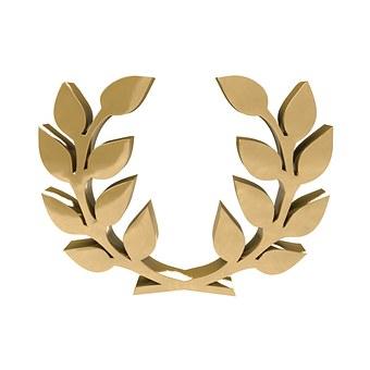 Caesar, Ave, Rome, Ruler, Laurel Wreath, Gold