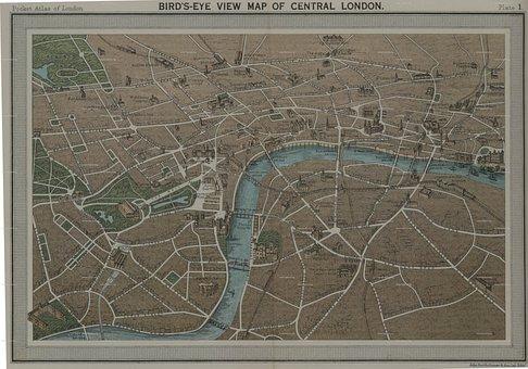 Map, England, London
