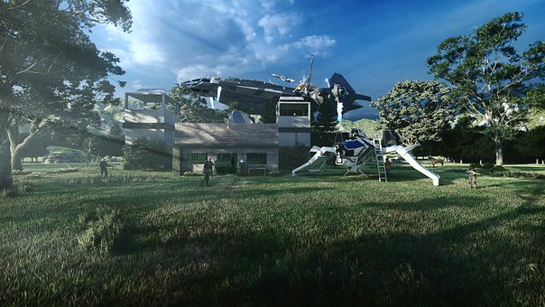 Star, Citizen, Game, The Ships, Nature, Rendering