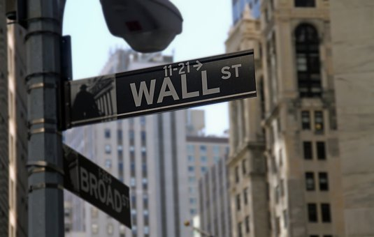 Wall Street, Stock Exchange, Finance, New York, Sign