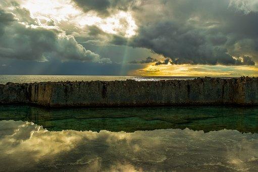 Landscape, Sky, Clouds, Nature, Scenery, Rock