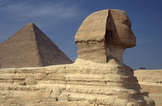 Egypt, Sphinx, Pyramids, Desert, Ancient
