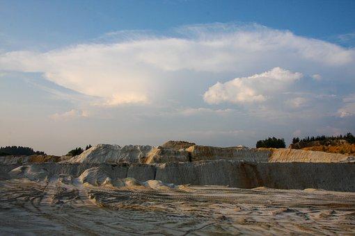 Kaolin, Sand, Stones, Pebble, Weathering, Scenic
