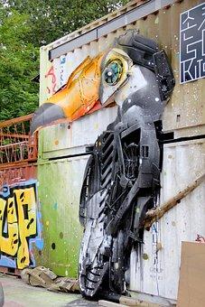 Berlin, Street Art, Spray, Urban, Colour, Car Wreck