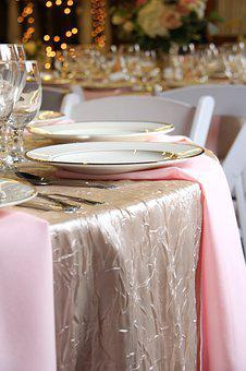 Table Setting, Napkins, Plate, Napkin, Restaurant