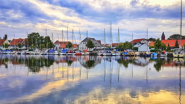 Port Of Greifswald, Wieck, Water, Travel, Tourism