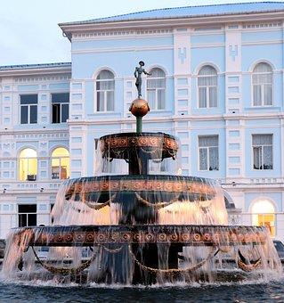 Georgia, Batumi, Fountain, City, Travel, Water