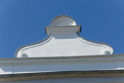 Bath Architecture, Usedom, Kaiser Baths, Detail, Gable