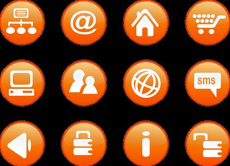 Icons, Locked, Unlocked, Web, Internet, Email, Network