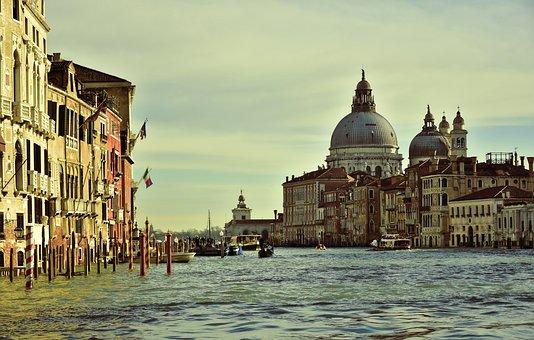 Venice, Canale Grande, Basilica, Church, Architecture