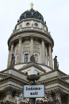 Berlin, Germany, Capital, Gendarmenmarkt, Dom, Dome