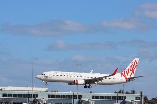 Boeing 737, Virgin, Australia, Adelaide, Airport