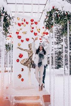 Ballet, Girl, Snow, Christmas, Dansing Ballet