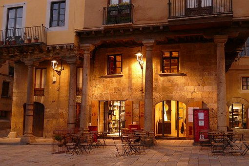 Terrace, Restaurant, Evening, Evening Light, Cafe, City