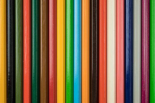 Colors, Colored Pencils, School, Draw, Art