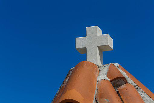 Cross, Gable, Church, Roof, Building, Architecture, Sky