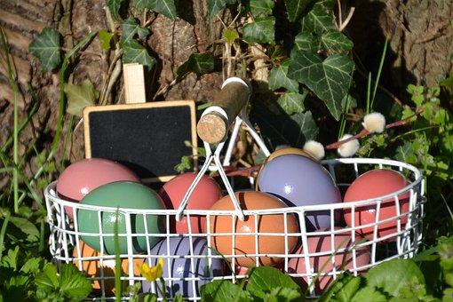 Easter Eggs, Easter Körbchen, Basket, Easter Pictures
