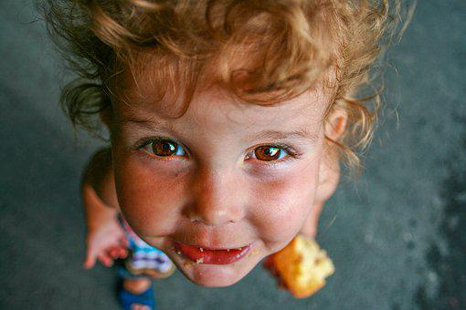 Child, Eyes, Girl, Food, Portrait, Person, Face
