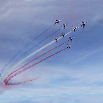 Patrol Of France, Aircraft, France, Aerobatics, Sky