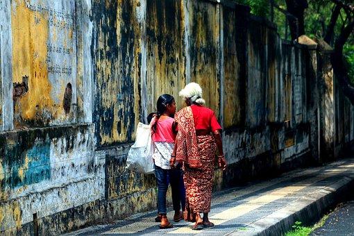 India, Human, Wall, Pedestrian, Road, Traffic, Mysore