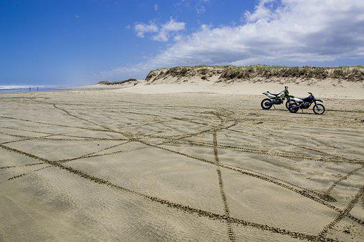 Beach, Motorbike, Motorcycle, Travel, Summer, Vacation