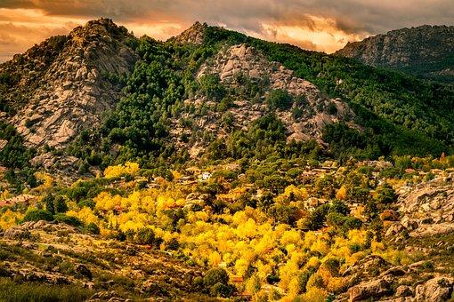 Autumn, Mountain, Colors, Manzanares El Real