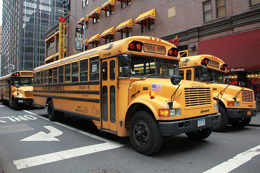School Bus, Nyc, Road, Bus, Classic