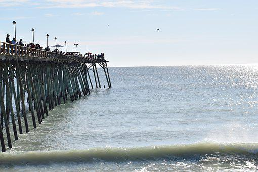 Pier, Ocean, Sea, Beach, Water, Nature, Travel