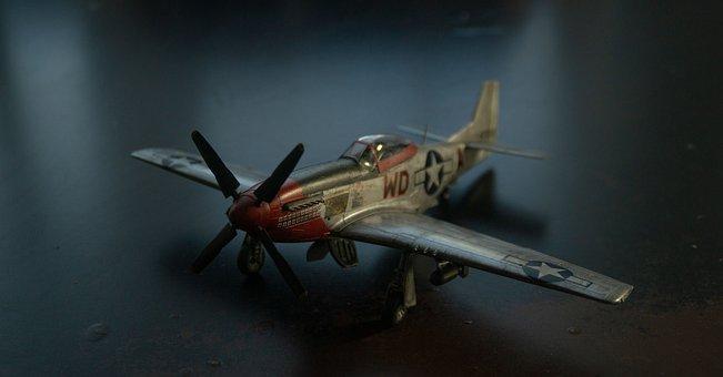 Model, Ww2, P51, Mustang, Usaf, Plastic, Miniature