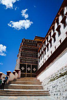 Palace, Tibet, Potala, Lhasa, Travel, Buddhism