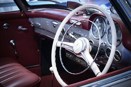 Steering, Classic, Auto, Retro, Vehicle, Automotive