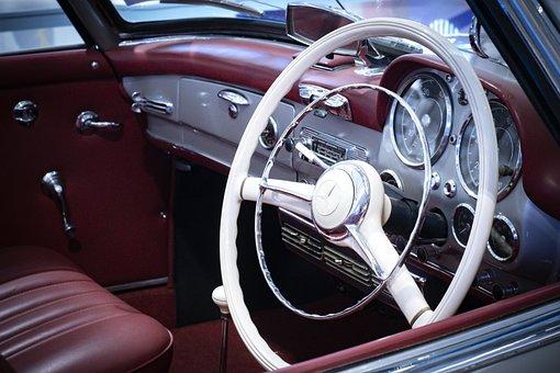 Steering, Classic, Auto, Retro, Vehicle, Automotive